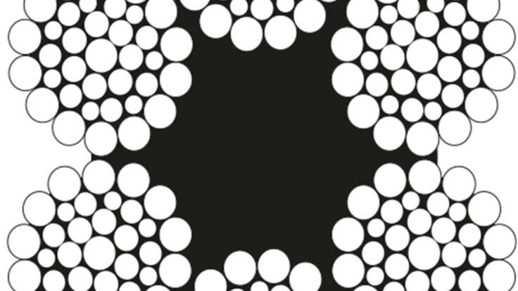 6×36 Warrington Seale Çelik Halat Lif Özlü