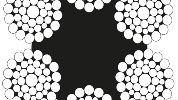 6×41 Warrington Seale Çelik Halat Lif Özlü